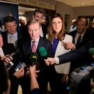 The Taoiseach with Michelle Mulherin TD and junior Tourism Minister Michael Ring TD