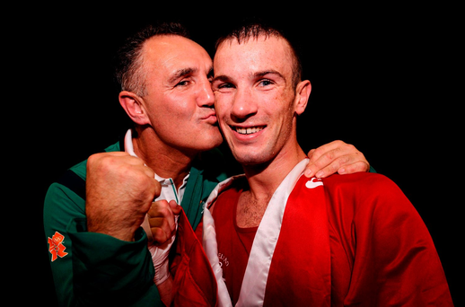 Billy Walsh and John Joe Nevin at the 2012 Olympic Games in London