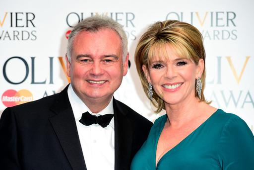 File photo dated 12/4/2015 of Eamonn Holmes and Ruth Langsford. Holmes has revealed that he was thrown out of a restaurant while making his latest TV show. PRESS ASSOCIATION Photo. Issue date: Tuesday October 20, 2015. The presenter was filming scenes as part of new Channel 5 series Eamonn & Ruth: How the Other Half Lives when the incident occurred. Whilst sampling the lives of the rich and famous, Holmes visited a restaurant where he was given a fancy foodstuff to eat worth thousands of pounds. See PA story SHOWBIZ Holmes. Photo credit should read: Ian West/PA Wire