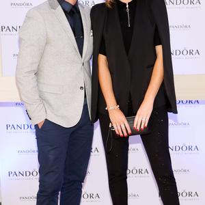 Brian Ormond and Pippa O'Connor at the PANDORA Winter Wonderland event which celebrated the launch of the stunning new Christmas 2015 collection, held at PANDORA's new flagship store on Grafton Street on Thursday 15 October-photo Kieran Harnett