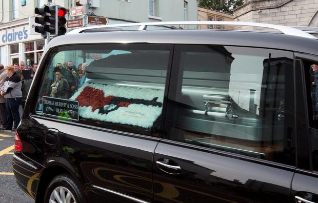 The funeral procession today in Bray