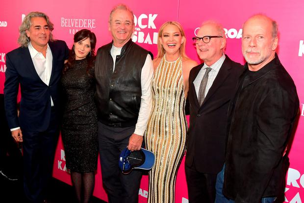 Mitch Glazer, Zooey Deschanel, Bill Murray, Kate Hudson, director Barry Levinson and Bruce Willis attend the