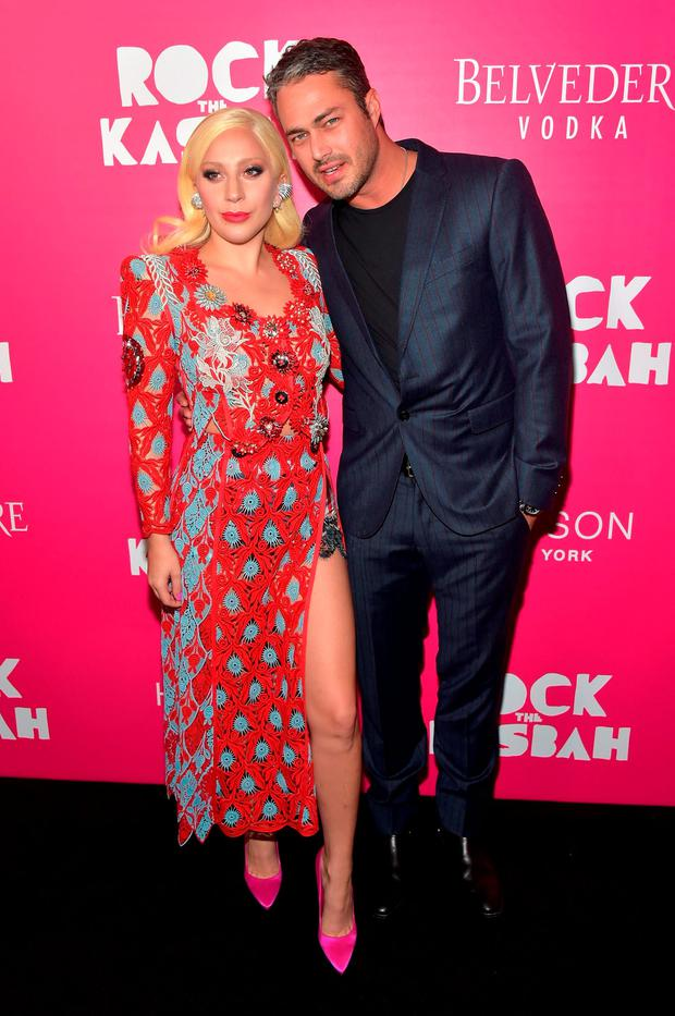 Lady Gaga and Taylor Kinney attend the