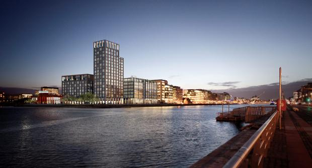 Kennedy Wilson has been given the go ahead for a huge apartment and office development in the Dublin docklands