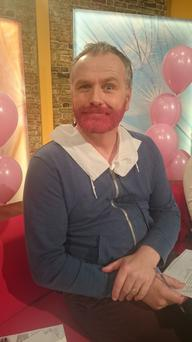 Daithi O'Se shows off his new colourful beard Credit:YouTube/RTE