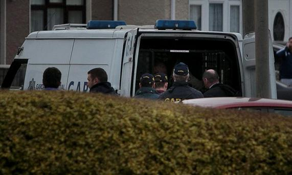 Gardai at the scene (Photo: Gareth Chaney Collins)