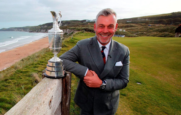 Darren Clarke during a press conference at Royal Portrush Golf Club, County Antrim