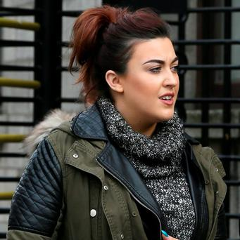 Emma Fox (23), Dunboyne, Co. Meath, leaving court yesterday Photo: Courtpix