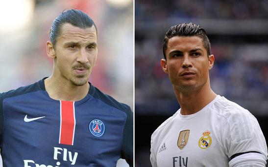 Ibrahimovic and Ronaldo are two of the planet's top-earning footballers