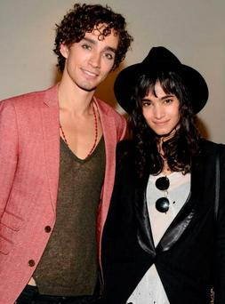 Actor Robert Sheehan and his girlfriend Sofia