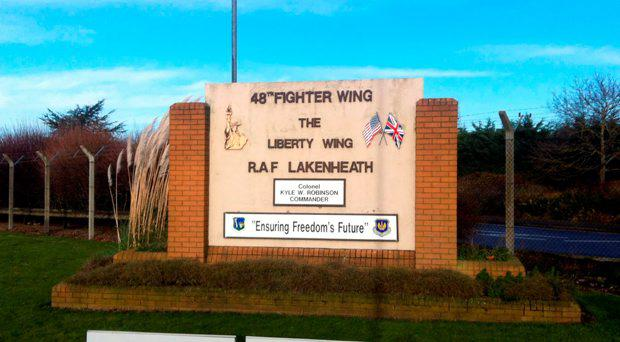 File photo dated 08/01/14 of RAF Lakenheath, as sources confirmed that a jet has crashed near the RAF base in Suffolk