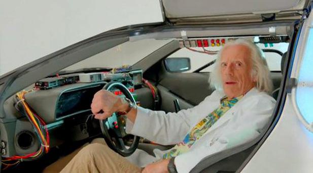 Doc Brown delivers a special message to fans on Back to the Future Day