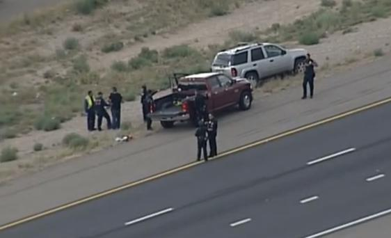 Police investigating the shooting of a four-year-old girl in an apparent road rage incident Credit: KOB-TV