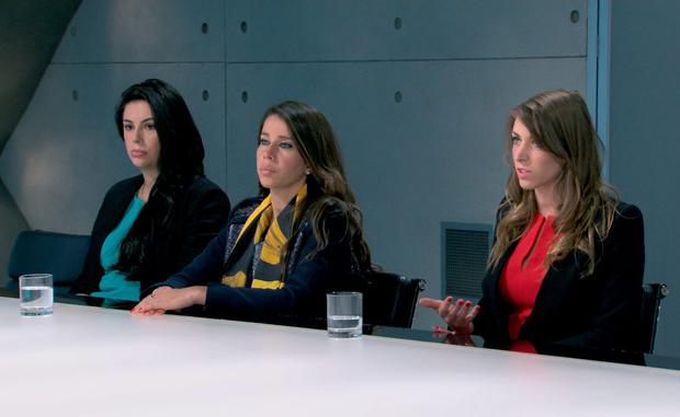 In the boardroom, Elle Stevenson, Vana Koutsomitis, Jenny Garbis - (C) Boundless - Photographer: Screen Grab