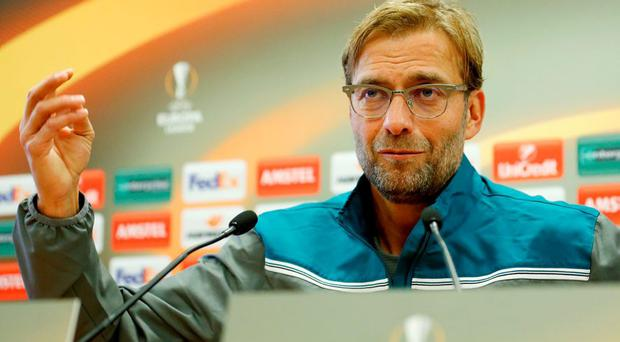Liverpool manager Juergen Klopp during the press conference today Action Images via Reuters / Carl Recine
