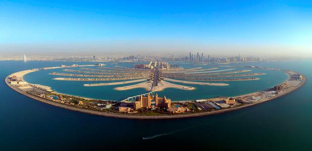 The Palm Jumeirah. PA Photo/Handout.