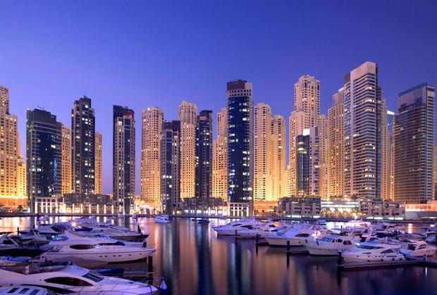 Dubai Marina. PA Photo/Handout.