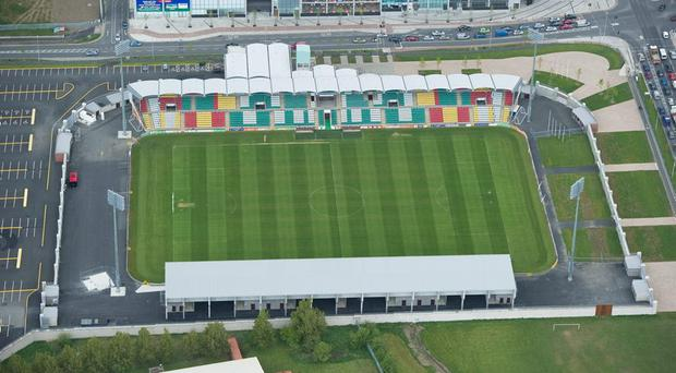 An aerial view of Tallaght Stadium. Dublin. Picture credit; Brendan Moran / SPORTSFILE