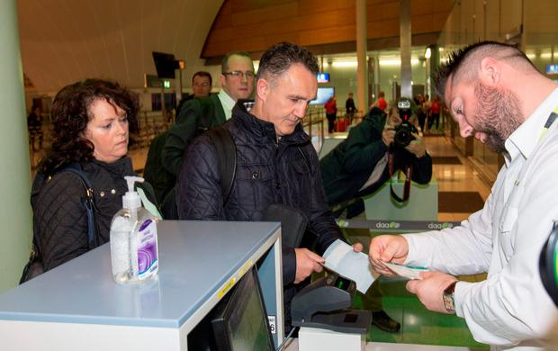 Billy Walsh pictured at Dublin Airport this morning. PIC COLIN O'RIORDAN