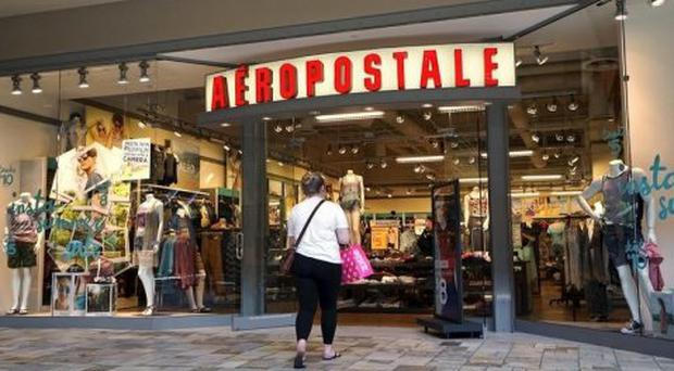A customer enters an Aeropostale store. Pic: Thomson Reuters