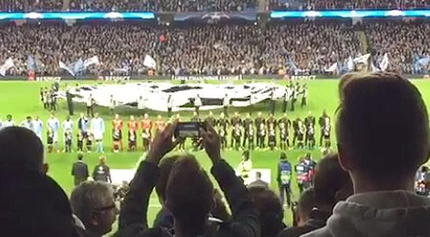Making voices heard: City fans regularly boo Champions League anthem in protest at Uefa