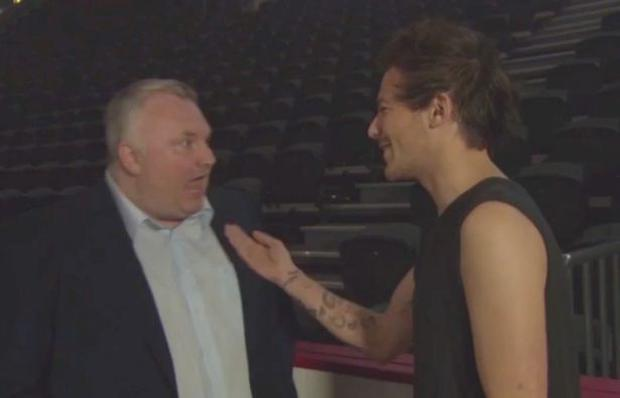 One Direction member Louis Tomlinson and BBC Host Stephen Nolan