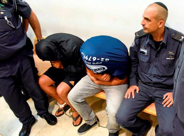 Two Israeli men arrested over participating in the