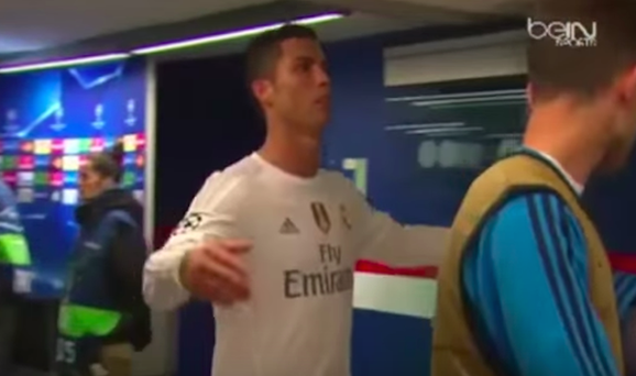 Cristiano Ronaldo was not impressed