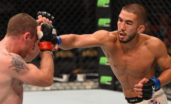 Louis Smolka, right, takes on Paddy Holohan on Saturday night