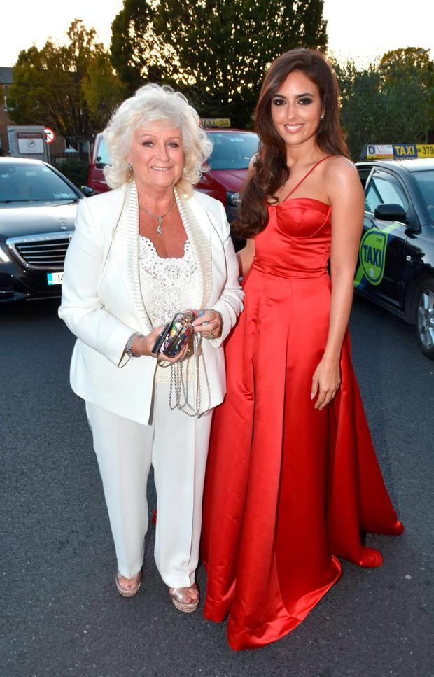 Nadia Forde & grandmother Bernie attend The IFTA Awards 2015 at the Doubletree Hilton Hotel, Dublin, Ireland - 21.10.15. Pictures: Cathal Burke / G. McDonnell / VIPIRELAND.COM