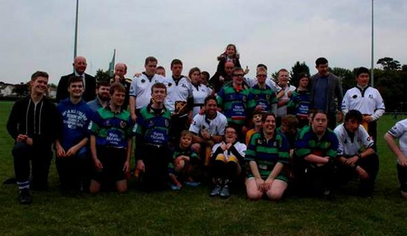 All of the attendees took a final group photo together and sent on their support messages to Joe Schmidt's Ireland team before their World Cup match against France