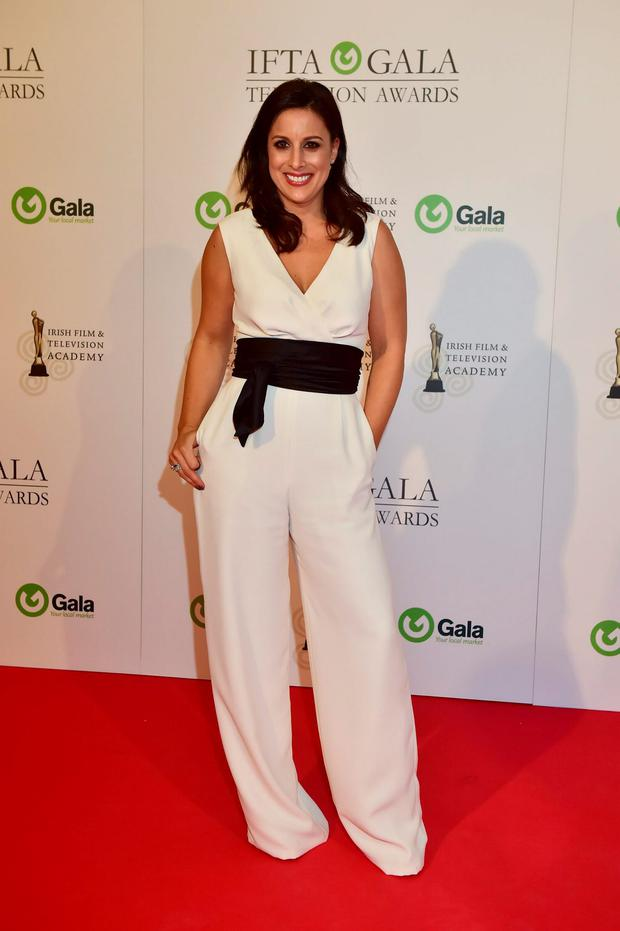 Lucy Kennedy arriving on the red carpet for the IFTA Gala Television Awards at the Double Tree by Hilton Hotel, Dublin. Photo by Michael Chester