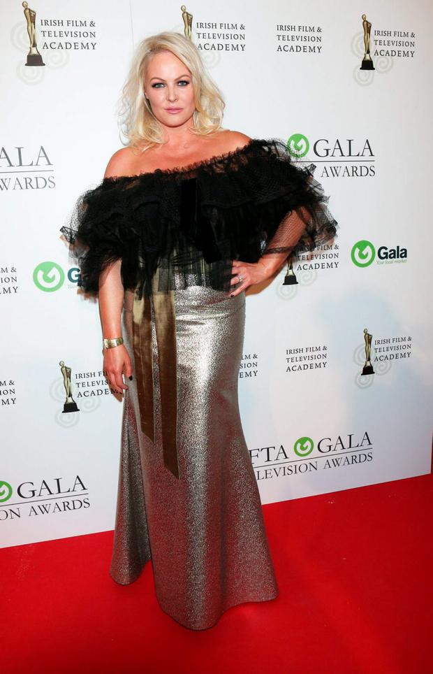 Amanda Brunker arriving on the red carpet for the IFTA Gala Television Awards at the Double Tree by Hilton Hotel, Dublin. Photo by Kyran O'Brien
