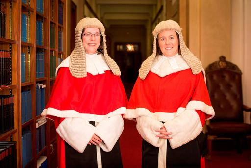 Denise McBride QC (left) and Siobhan Keegan QC, who have become the first women to be appointed as High Court judges in Northern Ireland Credit: NI Judicial Appointments Commission/PA Wire