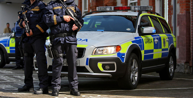 Garda armed support unit Stock picture