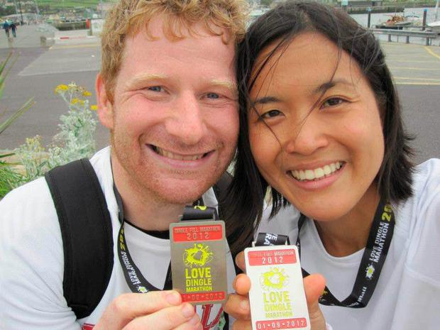 Alan McKenna and his wife May Gin Liew ran the Dingle marathon on their honeymoon