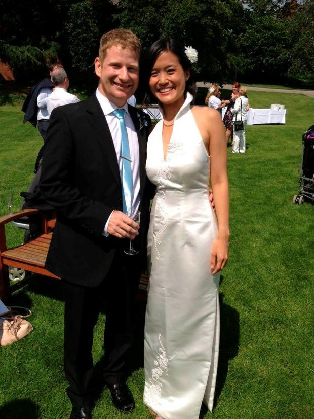 Alan McKenna and his wife May Gin Liew met at the Dublin Marathon five years ago