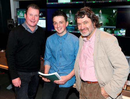 Warner Bros. Pictures, Ireland Head of Distribution Pat Boylan, MA in Screenwriting student Ciaran Dooley and Creative Director of The National Film School (NFS) at IADT, Donald Taylor Black