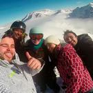 Mark McConville and friends in the French Alps