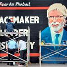 A mural depicting SF leader Gerry Adams on the Lower Falls Road in west Belfast