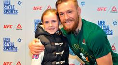 Conor McGregor was speaking at Life Style Sports on Grafton Street with thanks to Reebok. The official Reebok UFC range is available at the Life Style Sports Grafton Street or Mary Street stores