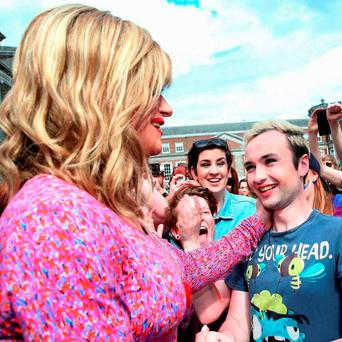 Dean MacCearain with Panti Bliss in 'The Queen of Ireland'