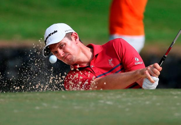 Justin Rose in action during the Hong Kong Open
