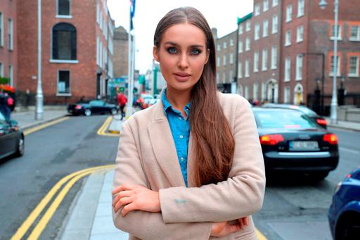 'This is where I live' Roz Purcell pictured in Dublin 2. Picture: Justin Farrelly.