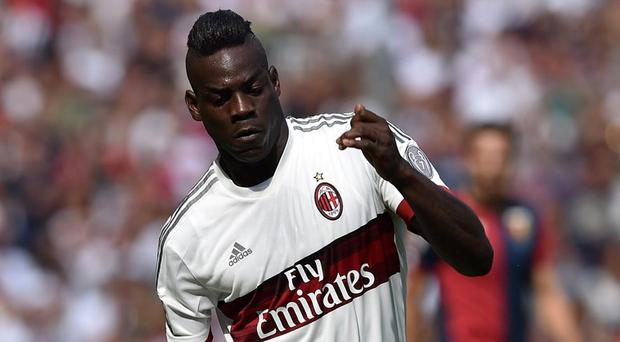 AC Milan and Liverpool striker Mario Balotelli. Getty Images