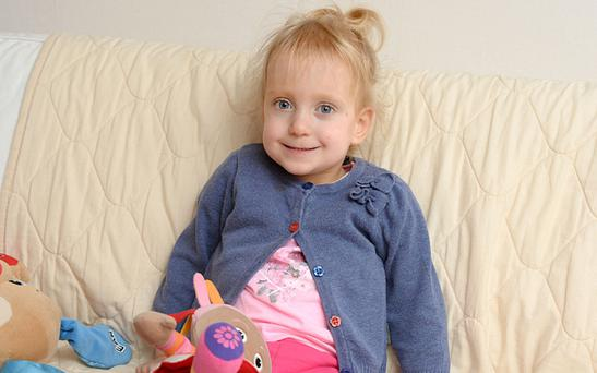 Three-year-old Grace, from Birmingham, who is looking for a home for Christmas Photo: Julian Hamilton