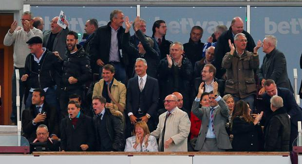 Chelsea manager Jose Mourinho in the stands