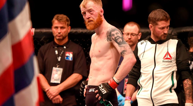Paddy Holohan following his defeat to Louis Smolka.