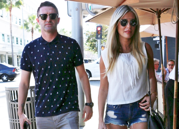 Robbie and Claudine Keane enjoy a lunch date in LA. Picture: Splash News