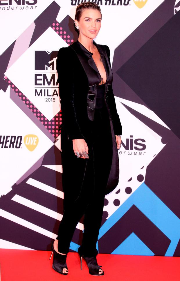 Ruby Rose attending the MTV European Music Awards 2015 held at the Mediolanum Forum di Assago in Milan, Italy. Picture date: Sunday October 25, 2015. See PA Story: SHOWBIZ EMA. Photo credit should read: Yui Mok/PA Wire